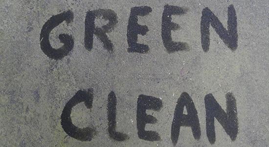 Green Clean Geschreven op de muur